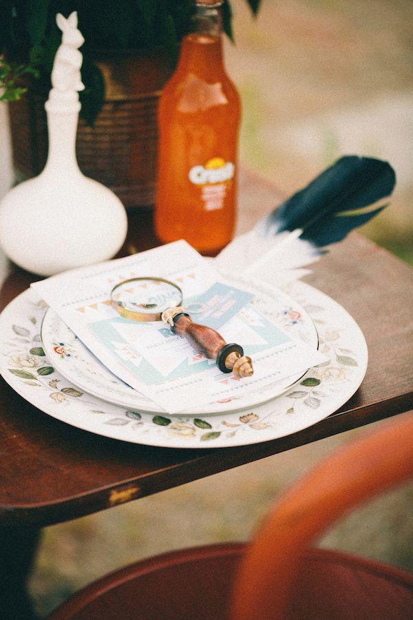 boho table setting // photo by Glass Jar Photography // http://ruffledblog.com/southwestern-meets-wes-anderson-inspiration