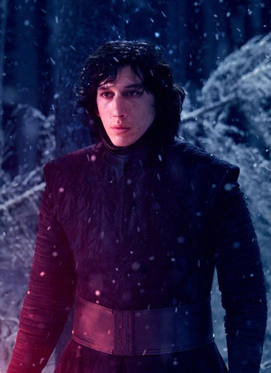 My sister says Adam Driver is ugly as Kylo Ren... My sister has never been more wrong in all her life. XD