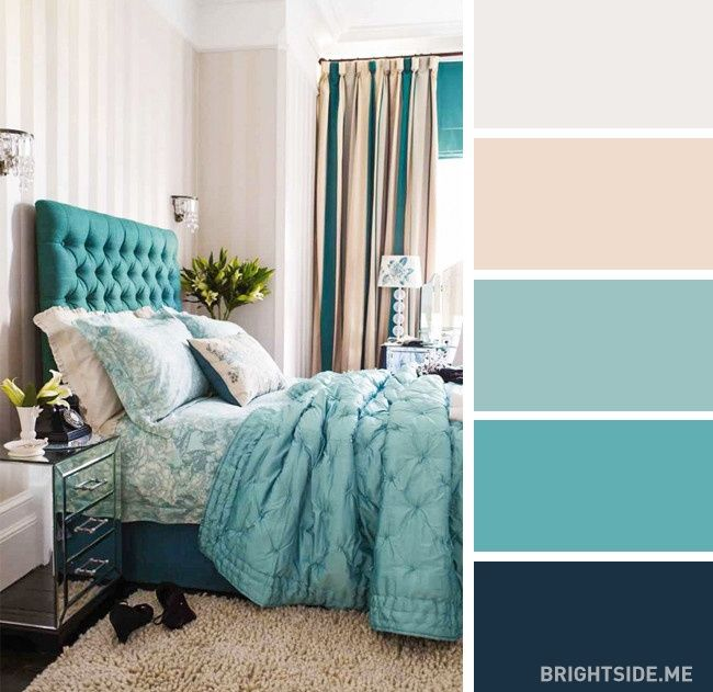 Great home decorating ideas! For the bedroom color combinations.