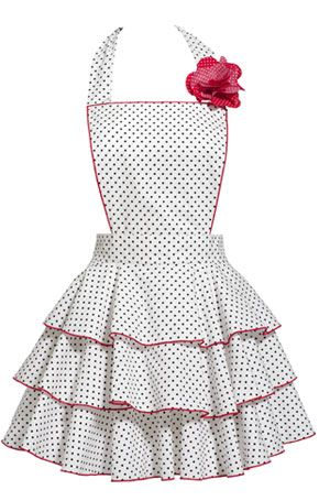 Retro apron.  So adorable!!  If I had this, I might actually cook.                                    Haha who am I kidding, no I wouldn't.  I'd probably use this more in the bedroom than in the kitchen.