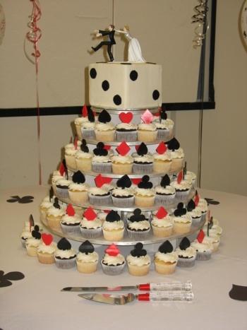 casino cupcake tower