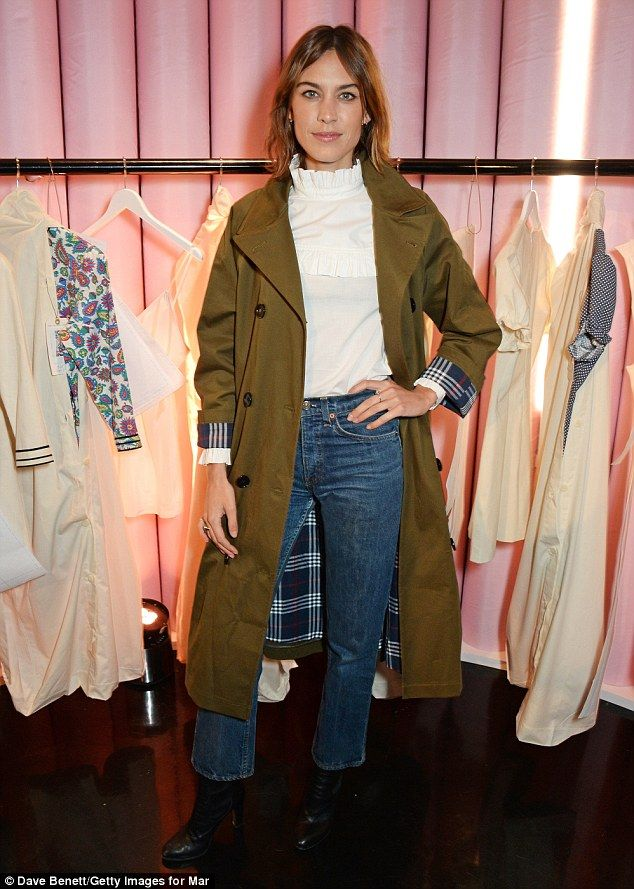 Model Alexa Chung has given fans a first glimpse into her hotly-anticipated range with Marks & Spencer
