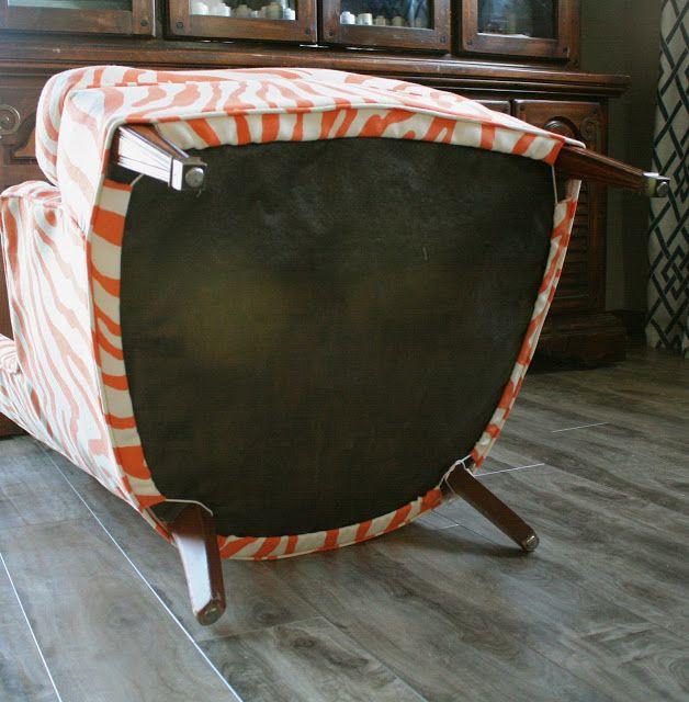 Custom Slipcovers By Shelley: Sewing Contest Week #2   Orange Zebra Chair