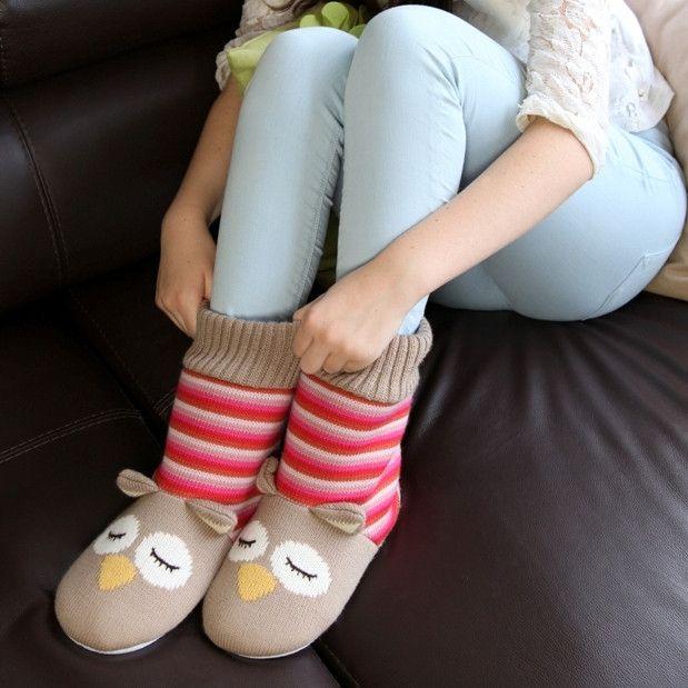 Slipper Socks Owl