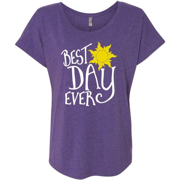Best Day Ever Ladies Triblend Relaxed Fit Tee - Rapunzel Shirt - Women's Graphic Tshirt - Best Day Ever Shirt