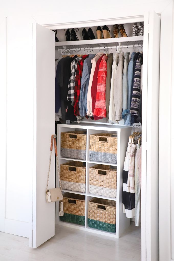 Diy Organization Color Coded Closet Makeover I Spy Diy Bedroom Organization Closet Color Coded Closet Tiny Closet Organization