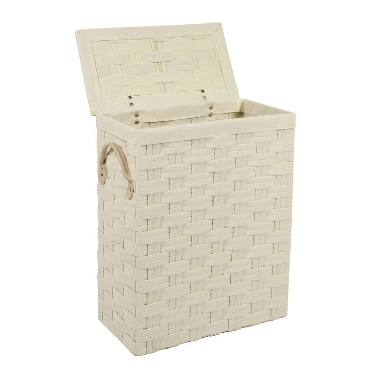 Photo Gallery In Website Ehc SlimLine Laundry Linen Basket Bin Bathroom Storage Hamper Basket With Lid Amazon co