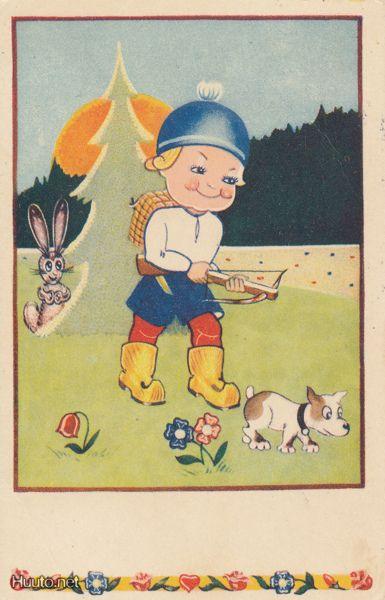 Kaj EDELMANN Poika saalistaa varsijousella 1945 (E56) - Huuto.net