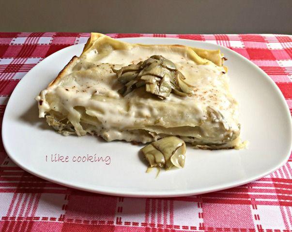 Lasagne bianche ai carciofi e salsa Mornay