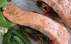 Stuffed Baked Salmon Recipe by Siba Mtongana