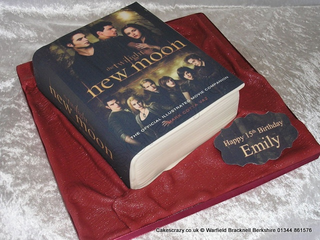 Book Shaped Cake Images : New Moon Book Cake Having My Cake... Pinterest New ...