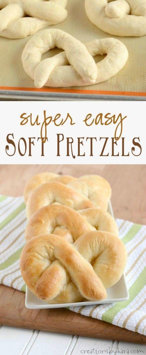 Recipe for homemade Soft Pretzels that are super easy to make!