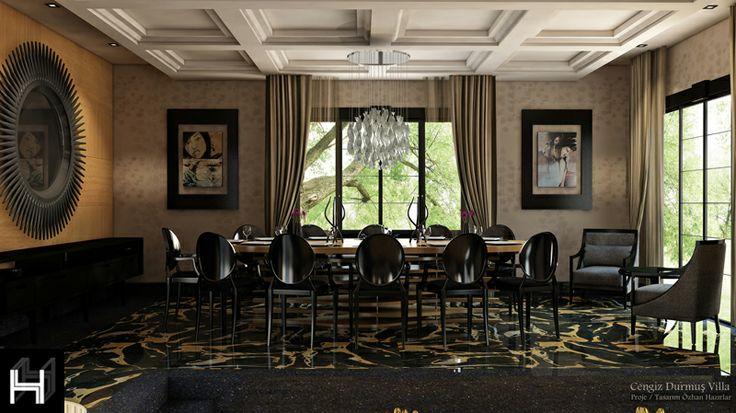 Villa living room / Villa yaşama mekanı Konsept Projesi Proje Tasarım :İç Mimar Özhan HAZIRLAR/İstanbul Designed by Özhan Hazırlar
