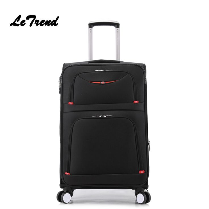 Letrend New Fashion 22 Inch Oxford Men Rolling Luggage Trolley Bag Suitcases Spinner Student Travel Bag Business Password box //Price: $90.20 & FREE Shipping //     #hashtag1