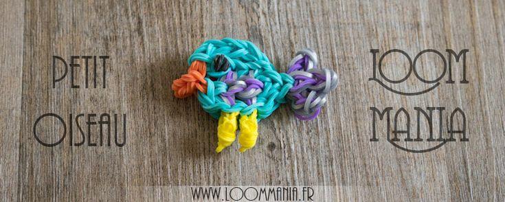 Petit Oiseau en élastiques - Little bird Rainbow Loom