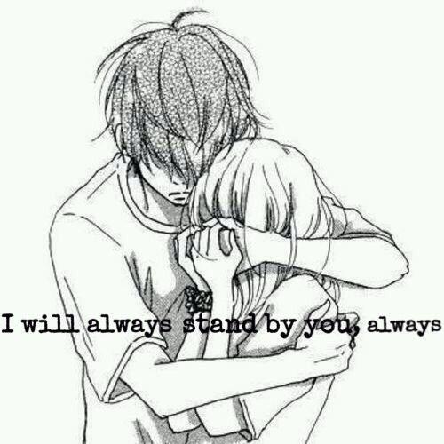 Boy girl hugs lies manga my life anime manga - Anime boy hugging girl ...