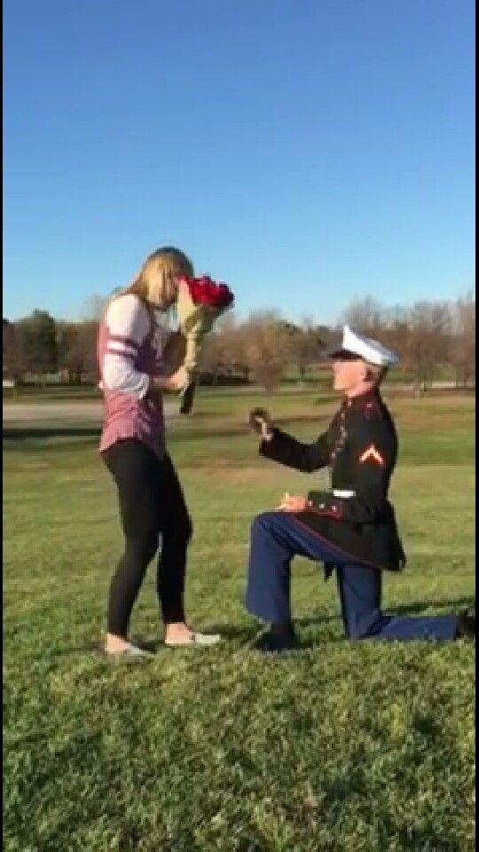 Marine boyfriend proposing!!