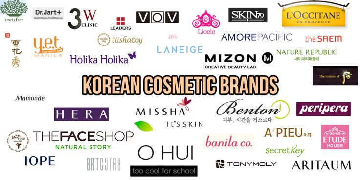 List of Korean Cosmetic- Skincare Brands
