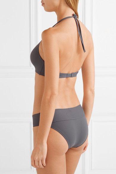 Eres - Les Essentiels Gang Triangle Bikini Top - Dark gray - FR38