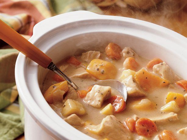 Betty Crocker slow cooker pork stew. I want to make this. Sounds like a delicious fall comfort food.