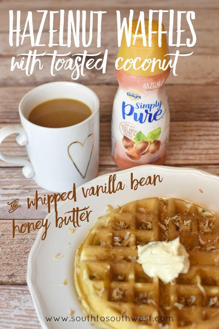 Hazelnut Waffles with Toasted Coconut and Whipped Vanilla Bean Honey ...
