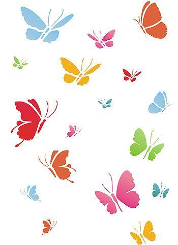 Little Butterflies Stencil 2