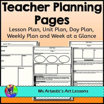 Planning Pages aligned with the new BC Curriculum! This product includes templates for a Lesson Plan, Unit Plan, Weekly Plan, Week at a Glance, and Day Plan. The Lesson Plan and Unit Plan are created for British Columbia's New Curriculum and includes terminology based on that.