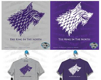 The King In The North T Shirt - Available in Unisex UW Washington Huskies Game Of Throne GOT Dawg Royal Purple Gold Gray White SIRIUSTEES