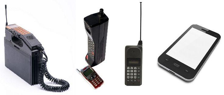 Kännykän kehitystä: ensimmäiset kännykät olivat melko kookkaita akun takia…