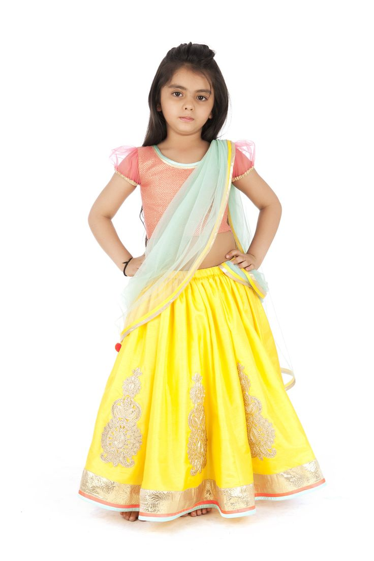 1000 Images About Girls Ethnic Wear Kids On Pinterest Peacocks Dress Up And Satin