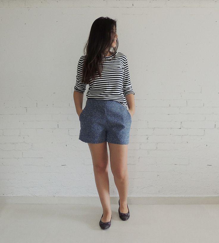 listras p&b + tweed = look navy www.simpleness.com.br