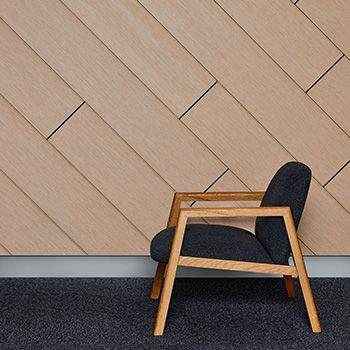 A modular panel system that combines superior sound absorption with the sophistication of timber veneer