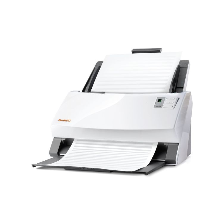Ambir ImageScan Pro 960u (DS960-AS) 60ppm High-Speed Document Scanner with UltraSonic Misfeed Detection. 60ppm High-Speed Document Scanner with Ultrasonic Misfeed Detection. Note, model DS960-AS is not compatible with Athena, Omnitracs or Innsoft software products. Truly versatile. With the ability to scan everything from letter & legal size documents to insurance, identification and business cards, the ImageScan Pro 960u is truly an all-in-one imaging machine. Capturing it all in color...
