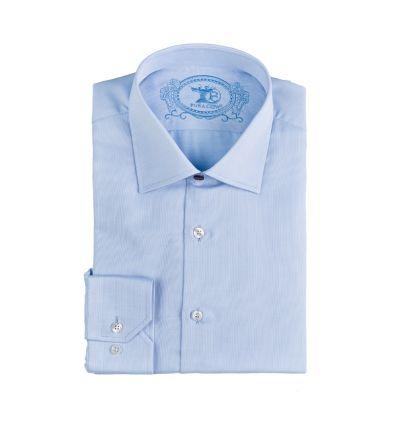 Corte REGULAR FIT en Tallas 3-4, Resto de tallas CLASSIC FIT , - Cuello italiano para que destaque más la corbata, con ballenas y puntadas resistentes que lo mantienen rígido y no desordenado, - Puntadas cortas en toda la camisa que otorgan más calidad en el acabado y más durabilidad a la prenda