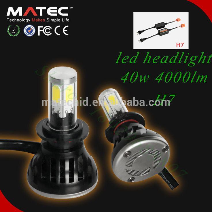 """Auto h7 car headlight External Canbus H7 40w 4000 lumen h7 led headlight,h7 led headlights for volvo trucks"""