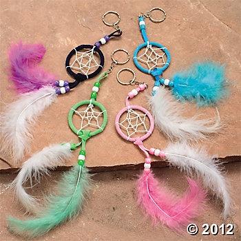 Pocahontas craft idea - Dream Catcher Key Chain Craft Kit $6.25/12