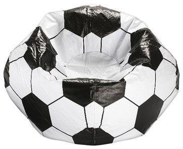 Ace Bayou Soccer Ball Matte Bean Bag eclectic-chairs