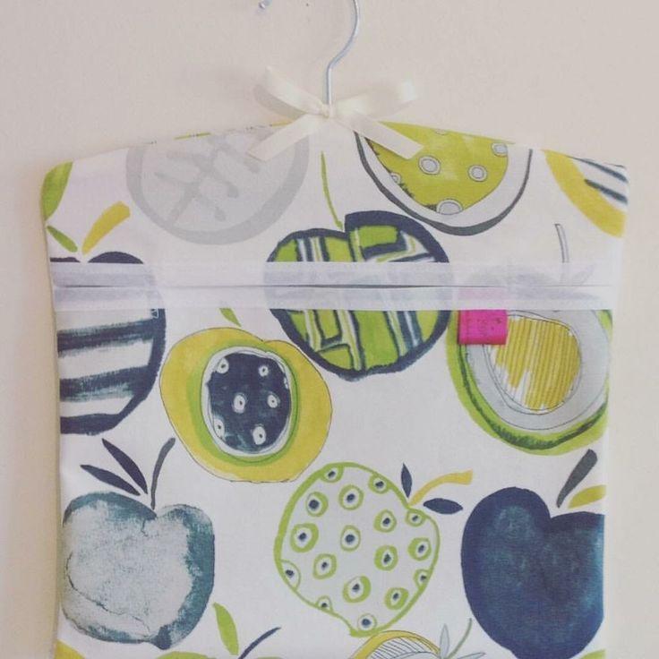 Washing Peg Bag Laundry Pin Bag Lemon and Lime Fresh Kitchen Kitsch  | eBay