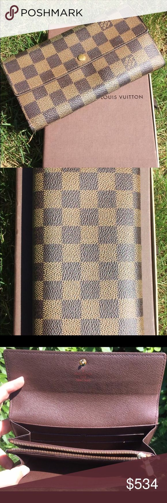 Louis Vuitton Damier Wallet 100% AUTHENTIC - In great condition - box included - Price firm no trades - buy for less & more pics at www.chicboutiqueconsignments.com! MA's #1 designer consignment boutique! Louis Vuitton Bags Wallets
