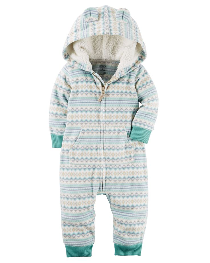 Hooded Fleece Jumpsuit (polar)