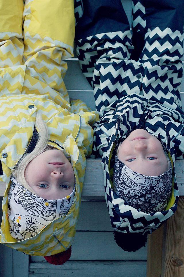 Unisex mid-season suits with scandinavian style for kids. www.miomao.fi
