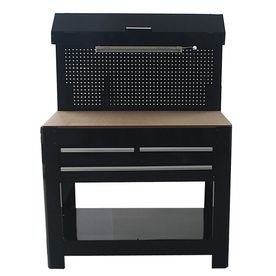 Kobalt�Black Heavy Duty 3-Drawer Work Bench $178 Work Light, peg board back, drawers