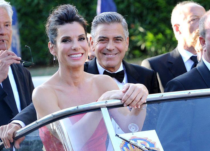 George and Sandra how beautiful! Venice Film Festival