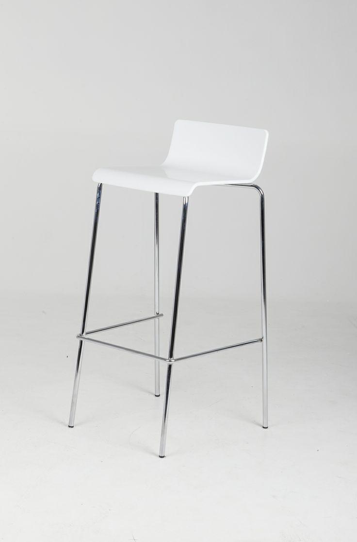 Bar Stool - white & chrome