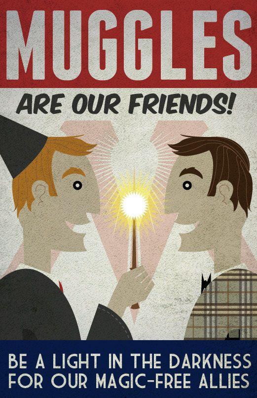 Muggles Are Our Friends  11x17 Poster Print par blimpcat sur Etsy, $15.00