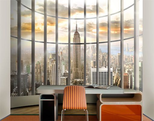 Photo Wall Mural OFFICE VIEW 300x280 Wallpaper Motif XXL Poster New York City