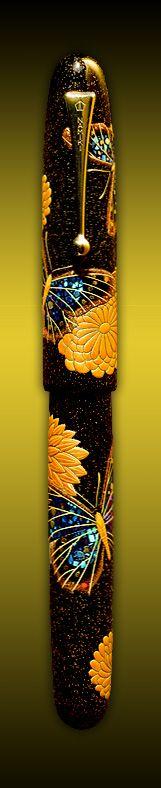 Namiki Pen Butterflies and Chrysanthemums Limited Edition Velvet finest Namiki pens shop Paris Paris France