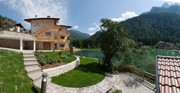 Our house on the beautiful Alleghe Lake in the heart of Dolomites