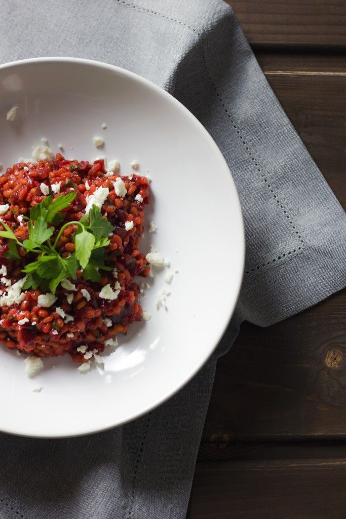 BARLEY RISOTTO WITH BEETROOTS AND FETA