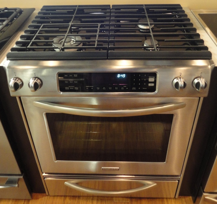 """KitchenAid KGSS907SSS 30"""" Slide-In Gas Range With 4 Sealed"""